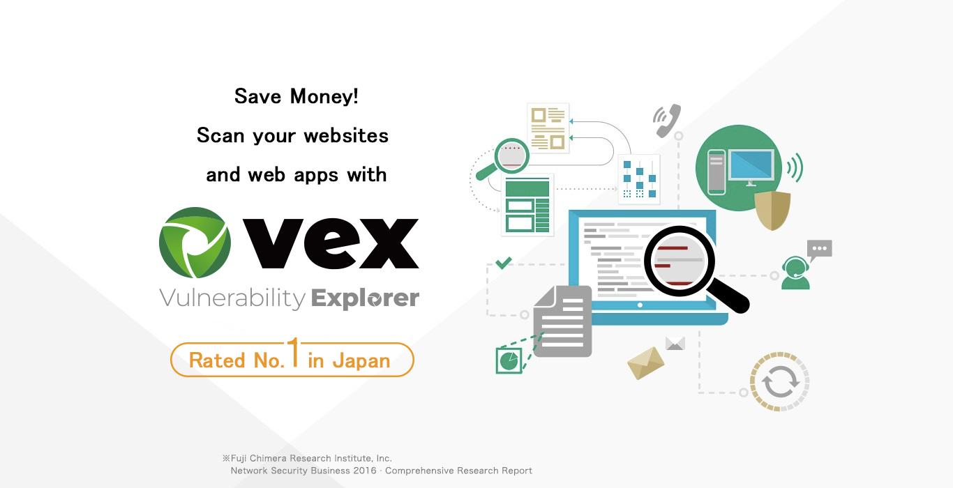 Vex, The Best Selling Web App  Security Scanner in Japan